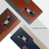 OBLIQ LG G7 ThinQ Case K3 Wallet Mud Gray Navy