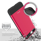 OBLIQ iPhone 8 Plus Case Dual Meta Hot Pink