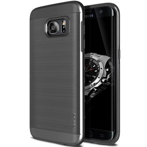 OBLIQ Galaxy S7 Edge Case Slim Meta Titanium Space Gray