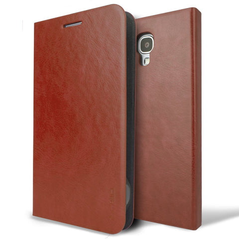 OBLIQ Galaxy S4 Leather Case Amant Brown