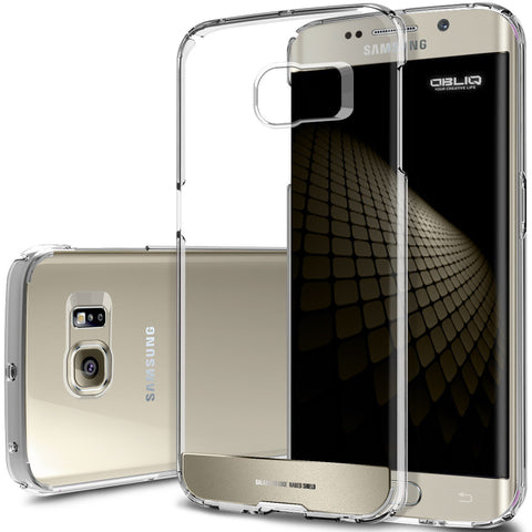 OBLIQ Galaxy S6 Edge Case Naked Shield Gold Platinum