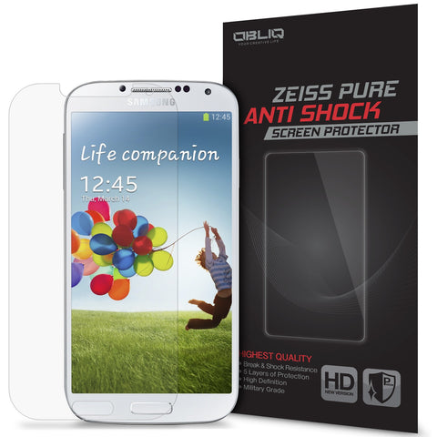 OBLIQ Galaxy S4 Screen Protector Pure Anti Shock 1PK