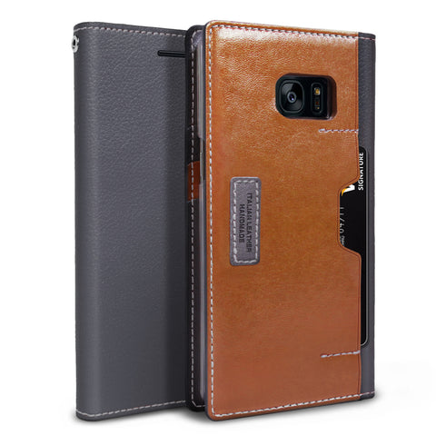 OBLIQ Galaxy Note 7 K3 Wallet Black Gray Brown