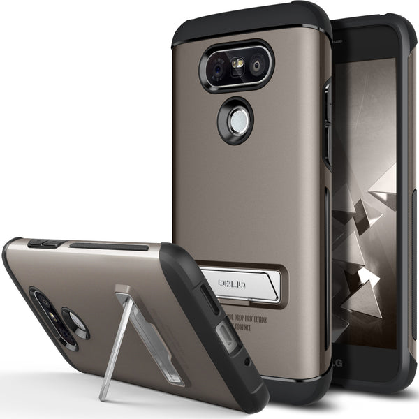 OBLIQ LG G5 Case Skyline Advance Gun Metal
