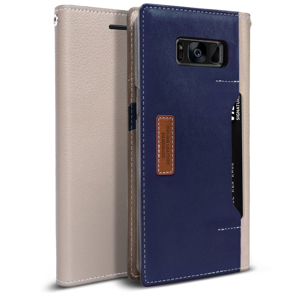 OBLIQ Galaxy S8 Case K3 Wallet Mud Gray Navy