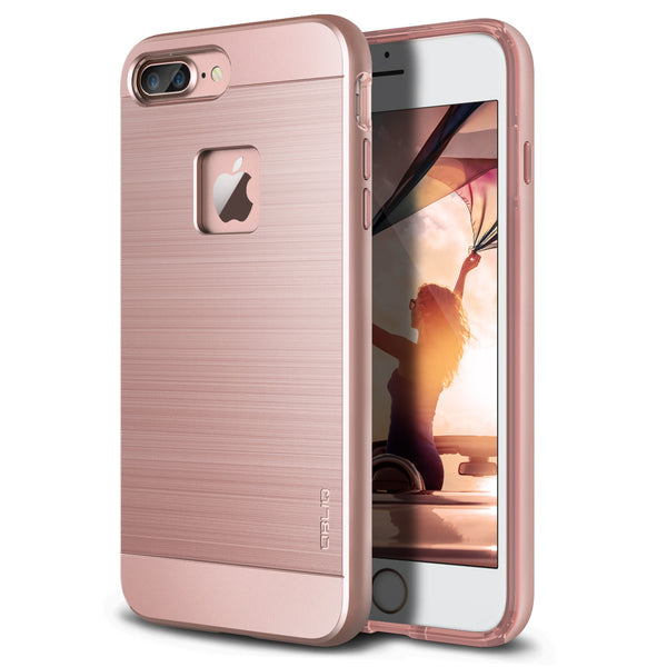 OBLIQ iPhone 7 Plus Case Slim Meta Rose Gold