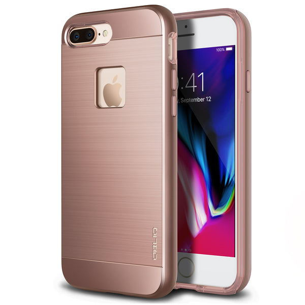 OBLIQ iPhone 8 Plus Case Slim Meta Rose Gold