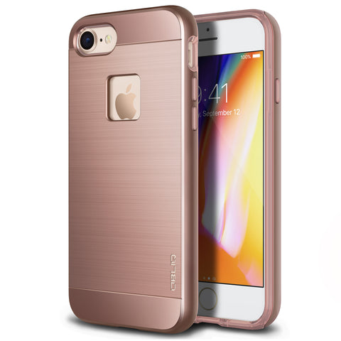 OBLIQ iPhone 8 Case Slim Meta Rose Gold