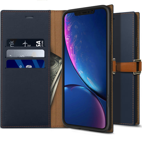 iPhone XR Case Z2 Wallet Navy