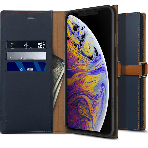 iPhone XS Max Case Z2 Wallet Navy