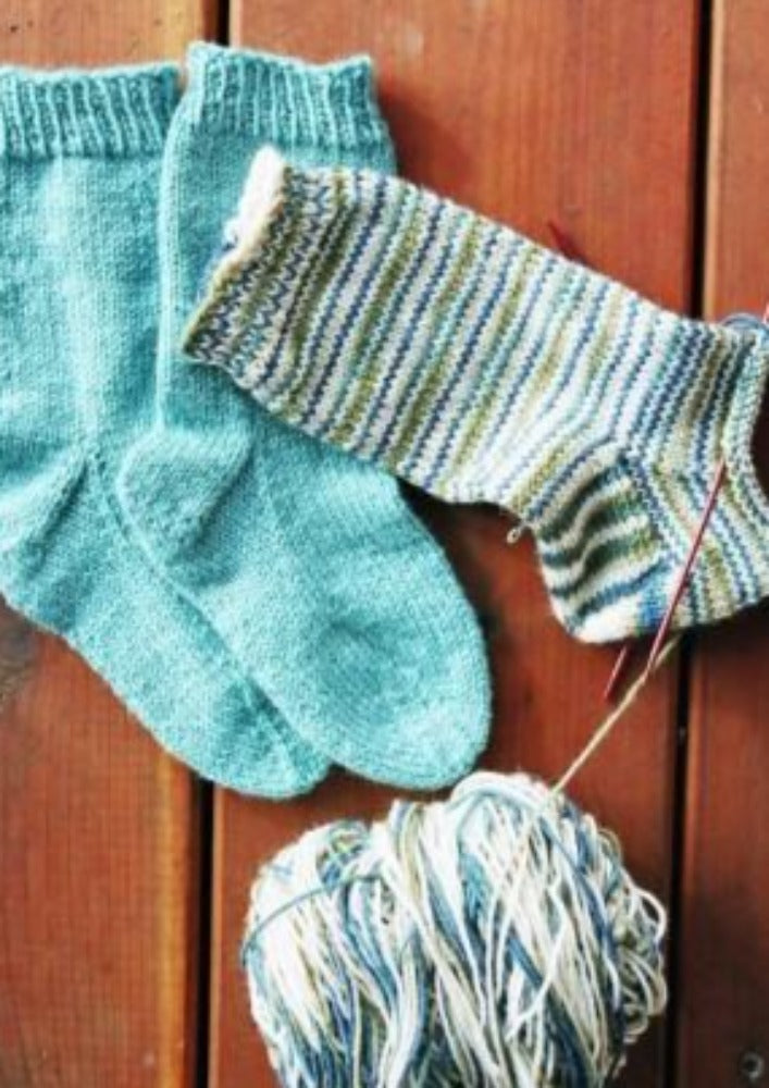Easy Children's Lightweight Socks by Knitting Pure & Simple
