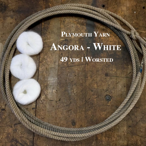 Plymouth Yarn Angora--White