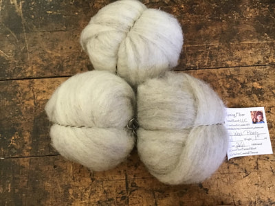 Tronstad Ranch Oatmeal Lamb's Wool Roving