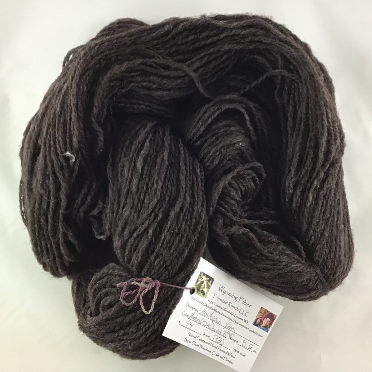 Tronstad Ranch Handspun Natural Dark Chocolate Brown 5.2oz
