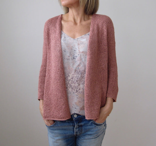 Quick Sand Cardigan Class--Thursdays July 11, 25, August 8, 22 5:30-7pm