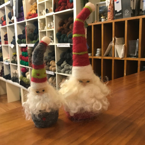 Needle Felted Santa Class October 5, 2019 9:30am-12pm