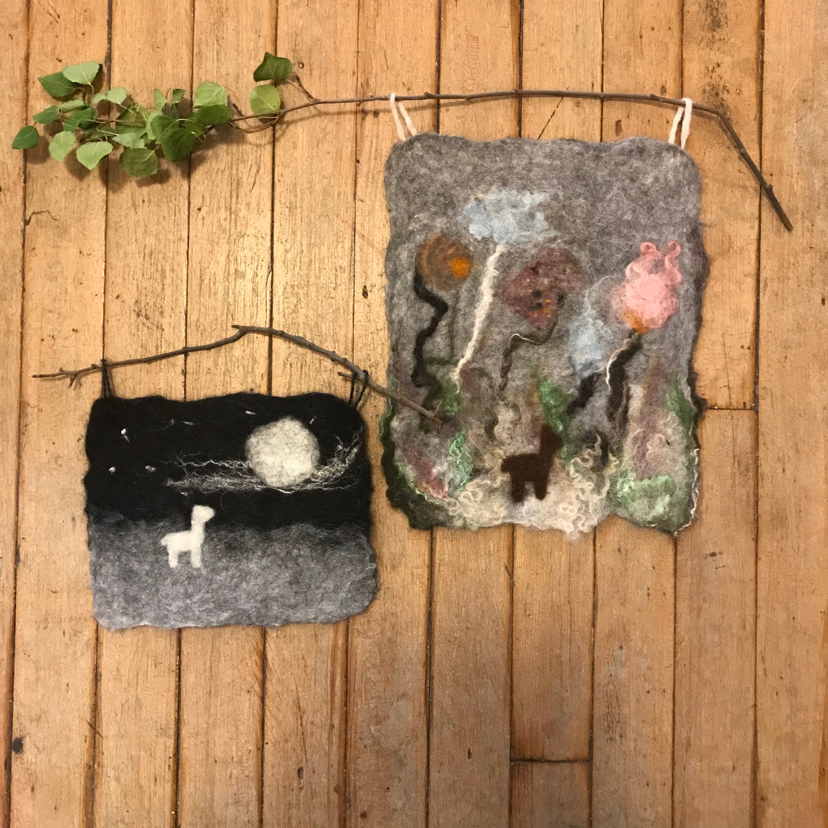 Felting The Landscape Workshop with Fibercation--1-3pm Saturday 11/9/19