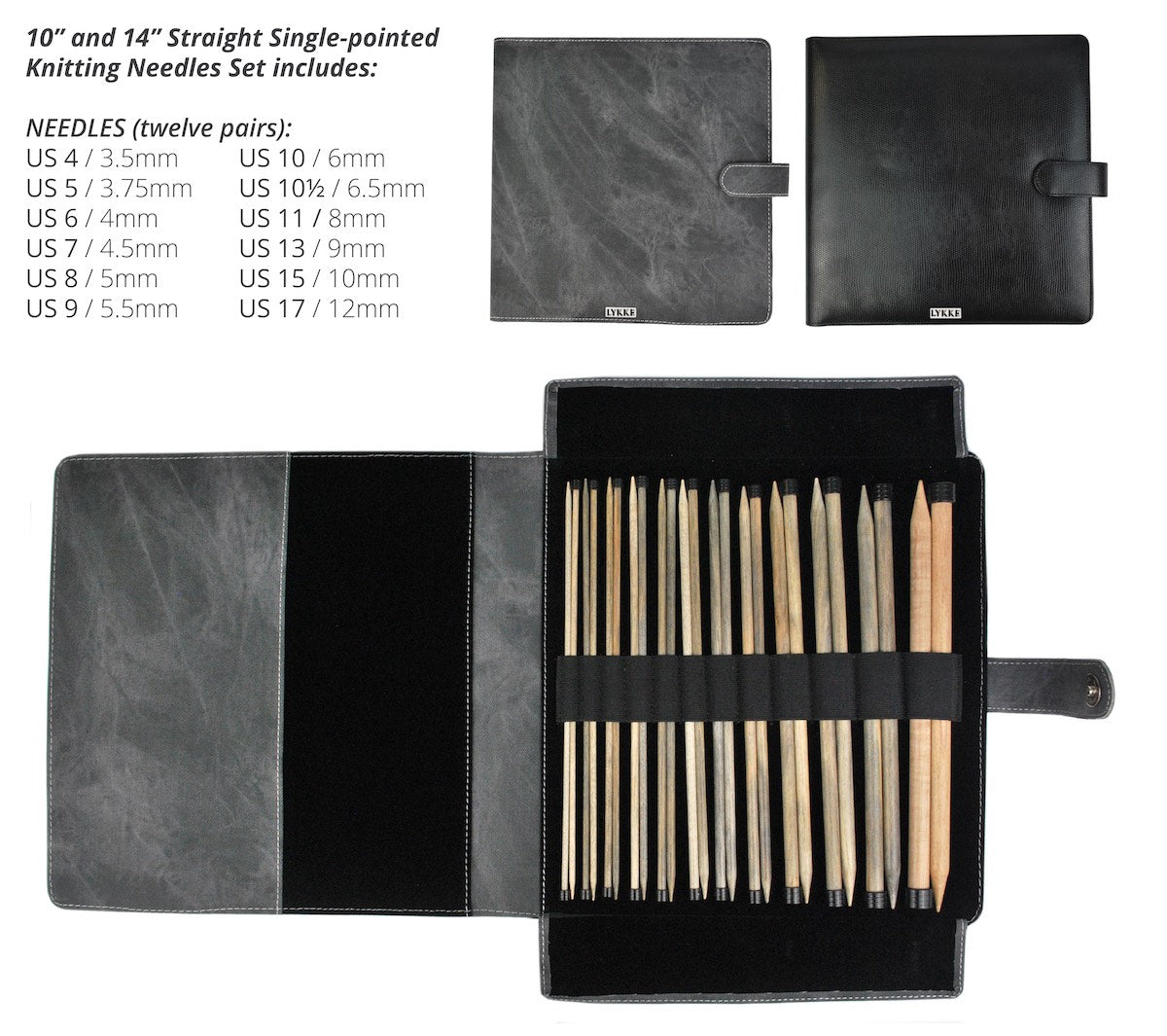 PRE ORDER--Lykke Straight Needle Set