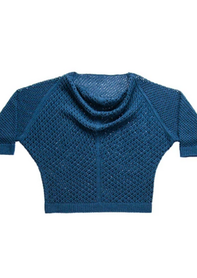 A knitted sweater on a white background