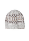 A knitted hat on a white background