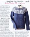 The cover of the Garland Necklace Yoke sweater knitted pattern