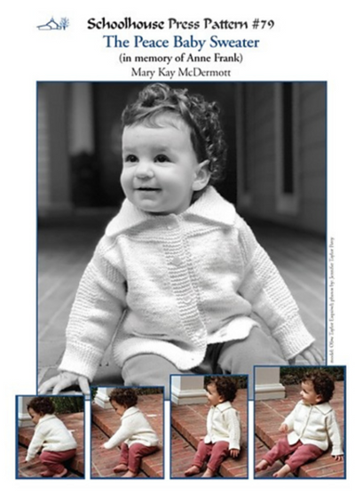 Cover of the Peace Baby Sweater pattern