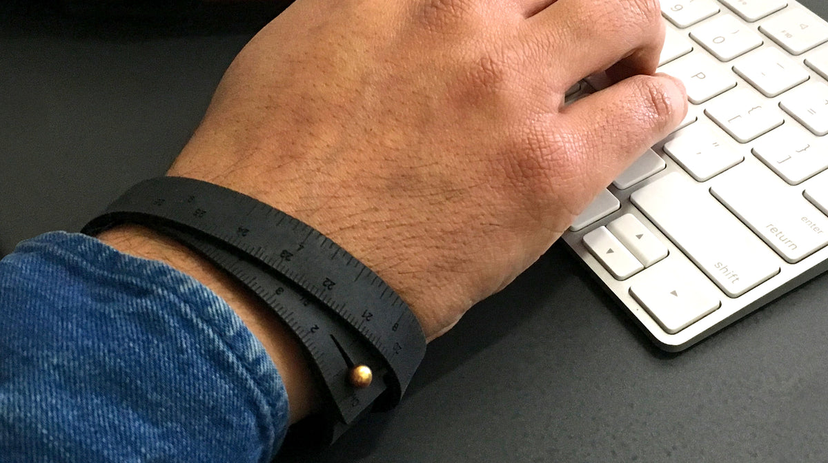 "16"" Leather Wrist Ruler Bracelet"