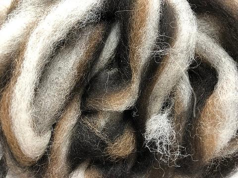 Alpaca Color Blend Roving 4 oz