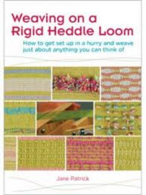 "Cover of ""Weaving on a Rigid Heddle Loom"" DVD with multiple woven swatches"