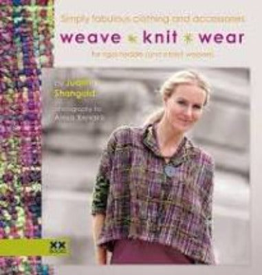 Cover of Weave•Knit•Wear with a woman in a woven jacket