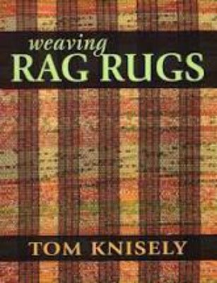 "Cover of ""Weaving Rag Rugs"" with a plaid woven pattern"