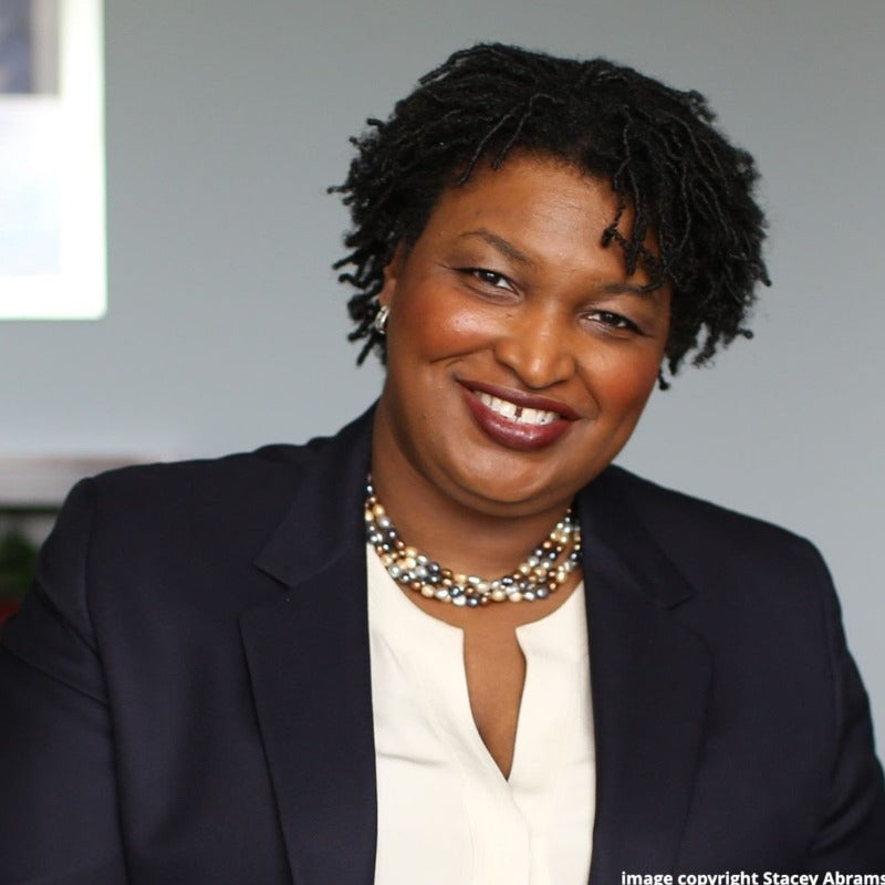 A portrait of Stacey Abrams