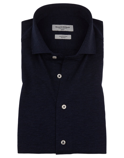 Knitted Navy shirt Bruun & Stengade