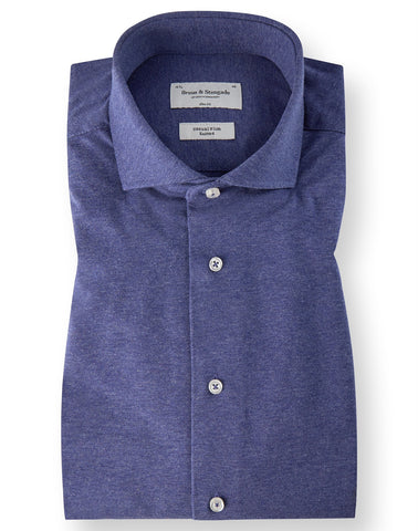 Lavendel Blauw Knitted Shirt