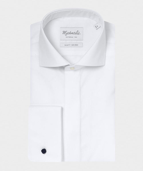 Wit smoking shirt | fine twill