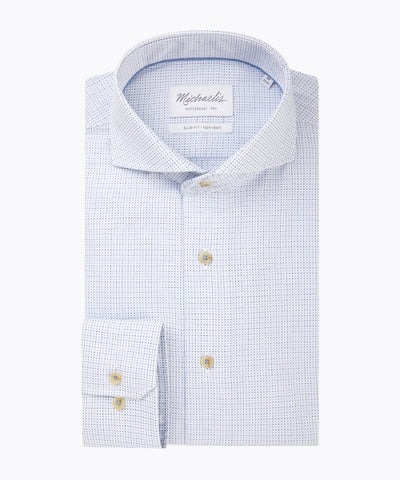 Wit oxford shirt met geweven patroon