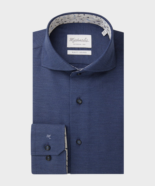 Navy fancy shirt