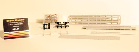1948-1996 F-70-6/7 Undecorated Flat Car Kit