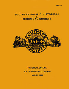 Southern Pacific Company Historical Outline 1933