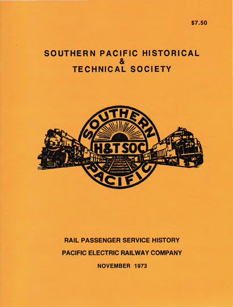 Rail Passenger Service History - Pacific Electric Railway Co.