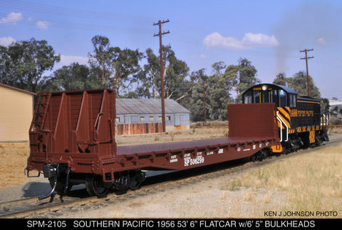 1956 Ready-to-Run F-70-7 Bulkhead Flat Car
