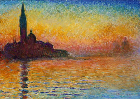 Sunset in Venice  by Claude Monet - Thursday, November 5 @ The Exhibit, Balham-POSTPONED
