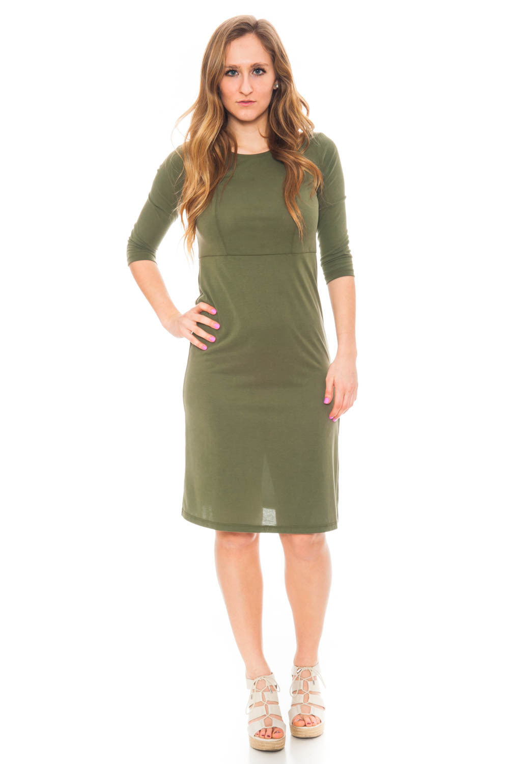 Dress - Cupro By Everly dress with shoulder cut outs