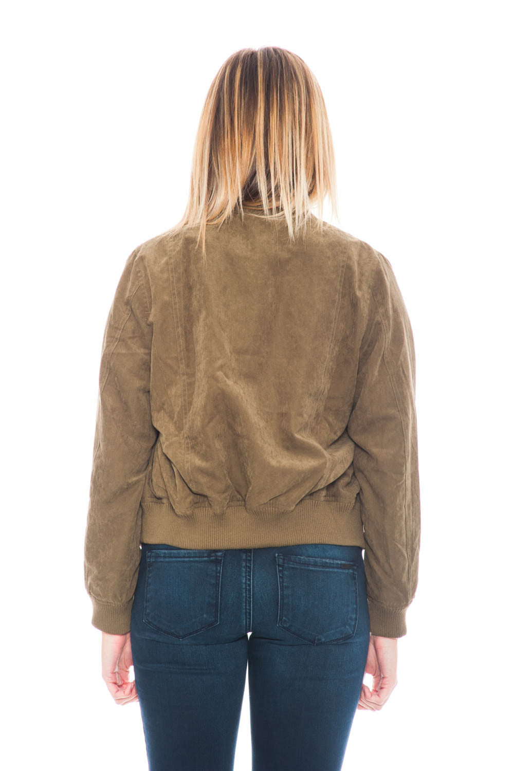 Jacket - Faux Suede Bomber By Everly