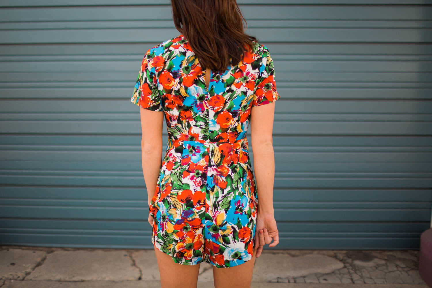 788b31a9 Romper - Lush Floral Tie Front Romper – Twisted Couture