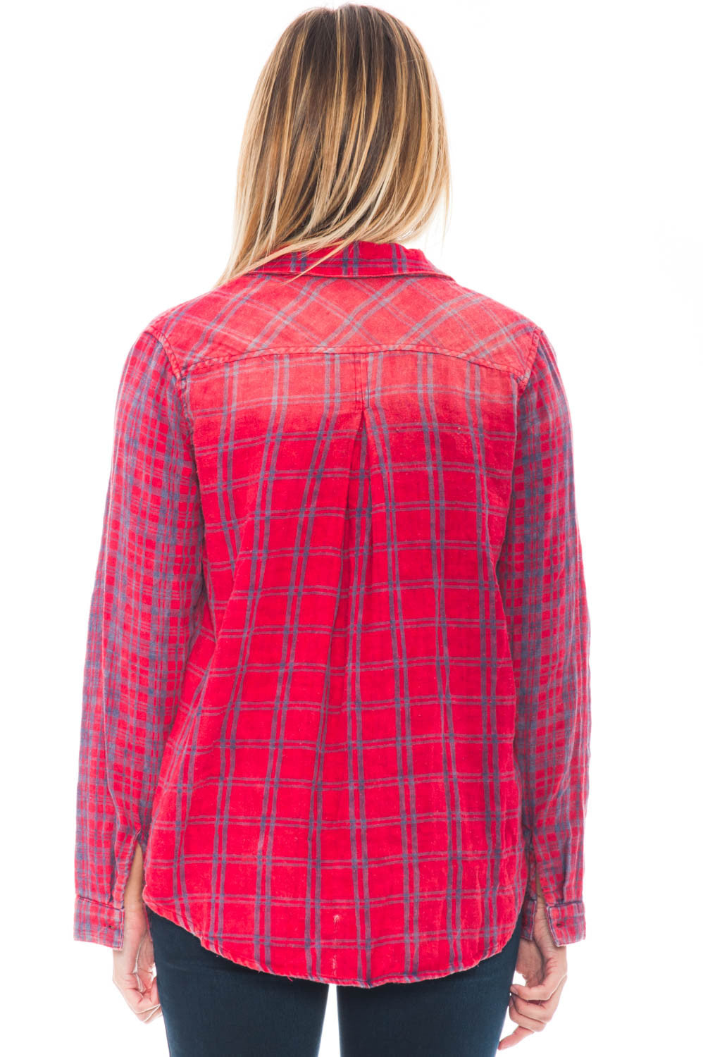 Shirt - Dye Collared Flannel By Paper Crane