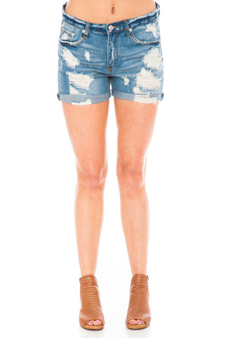 Short - Distressed Boyfriend Relaxed Shorts
