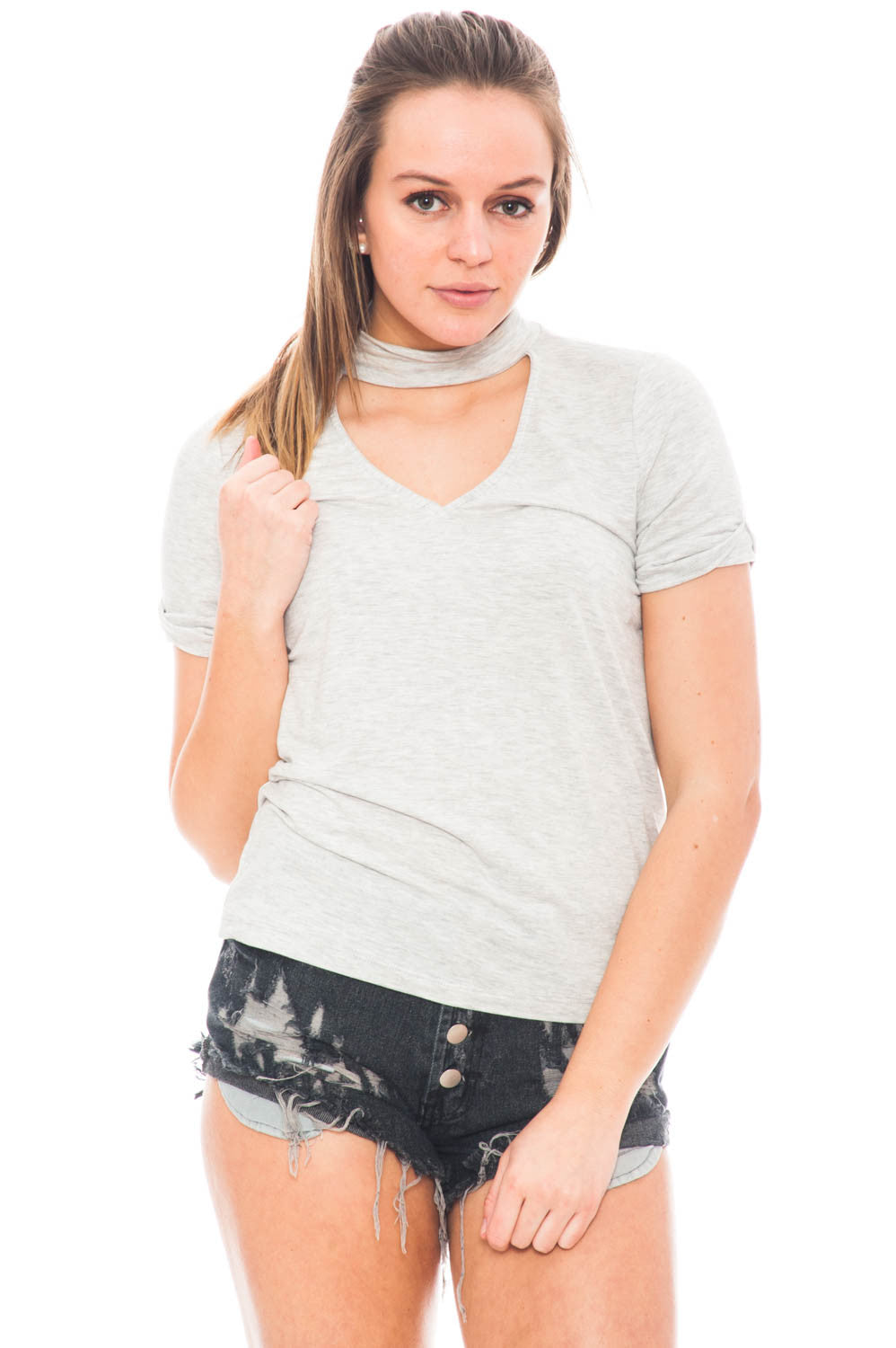 Shirt - Choker Tee by Everly