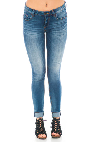 Jean - Mia Toothpick Skinny Exotic Mid-Rise Kut from the Kloth