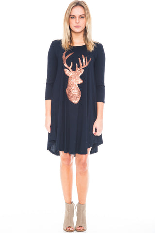 Dress - Reindeer Tee Dress (Final Sale)